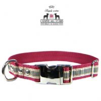 DOG COLLAR - AUTHENTIC SCOTTISH BLACKBERRY TARTAN